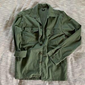 UNIQLO Olive Military Shirt Jacket